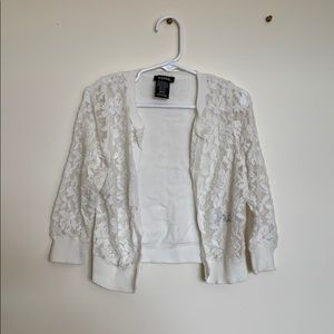 Off-White Lace Cardigan